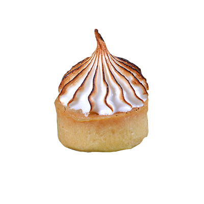 Durian Tart with Italian Meringue